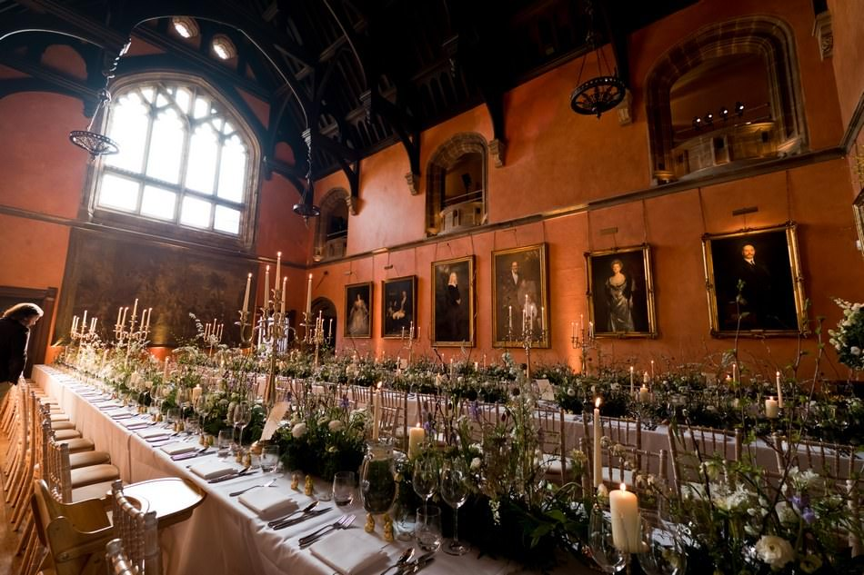 Table setting at Cowdray House in Sussex