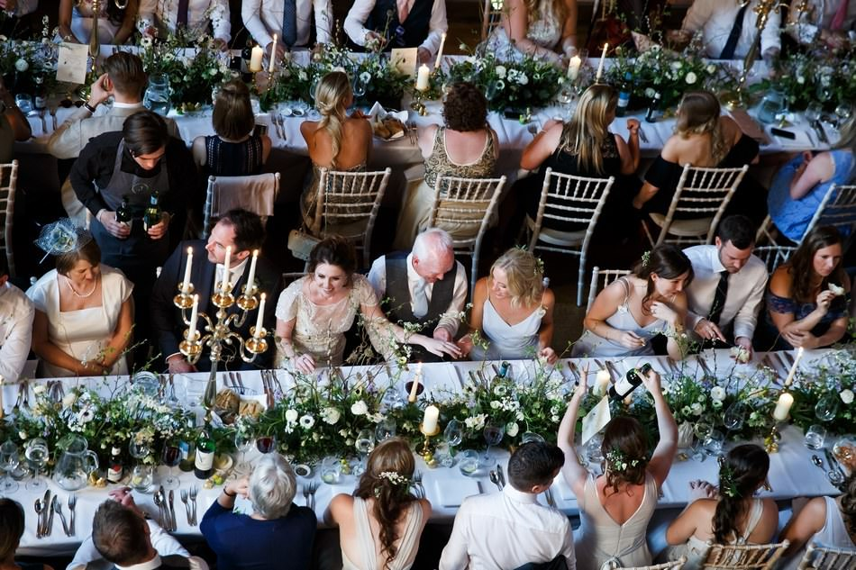 Sit down meal at Cowdray House in Sussex by jacaranda catering