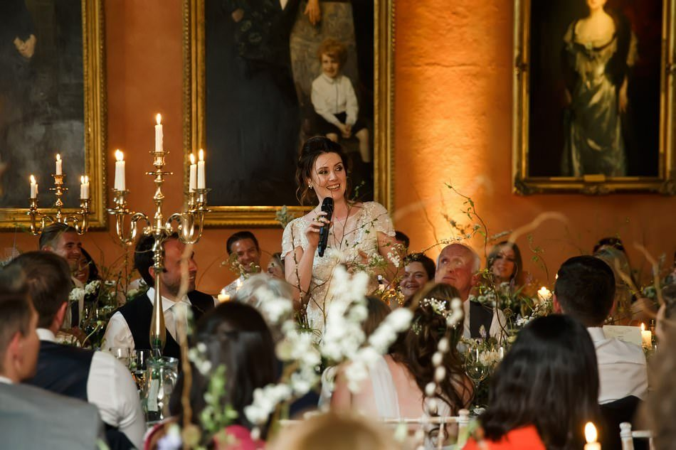 Bride Speech at Cowdray House in Sussex