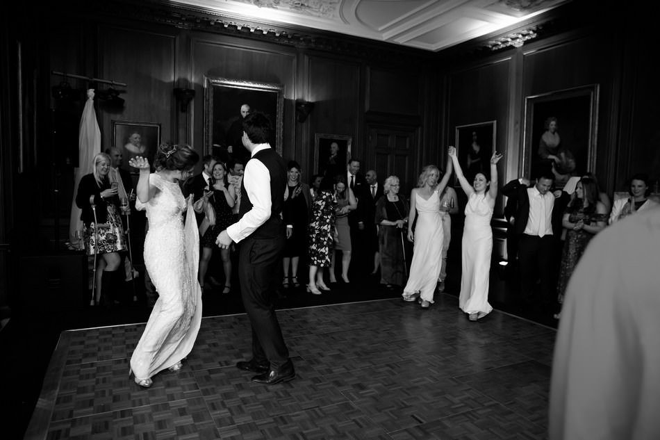 Natural candid first dance photography at Cowdray House in Sussex