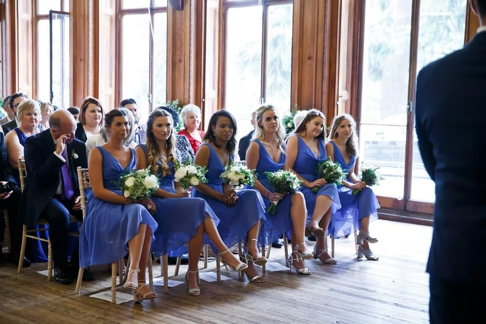 Grove House Wedding Ceremony Bridesmaids