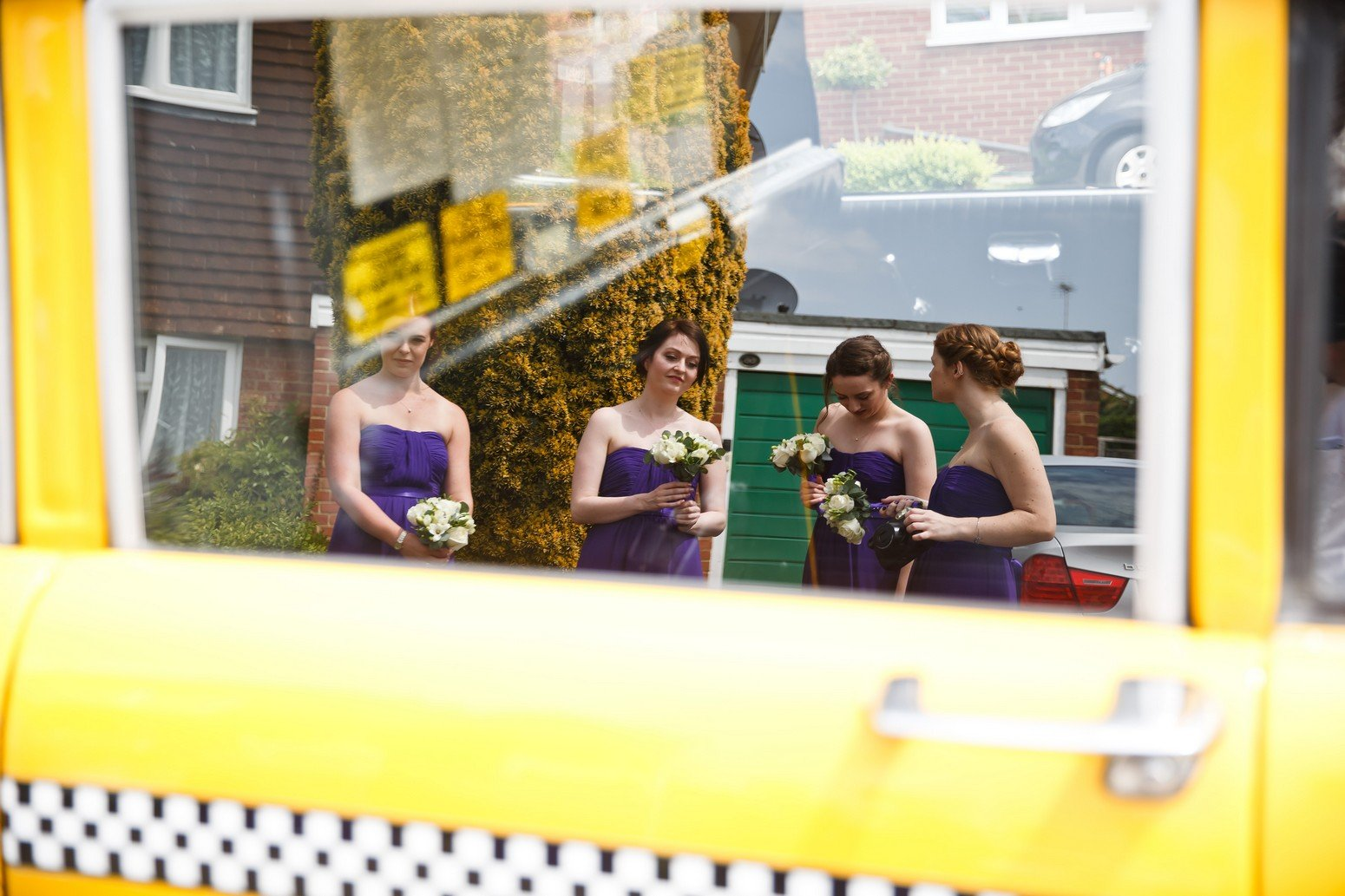 Spread Eagle Hotel Wedding photography new york yellow cab taxi