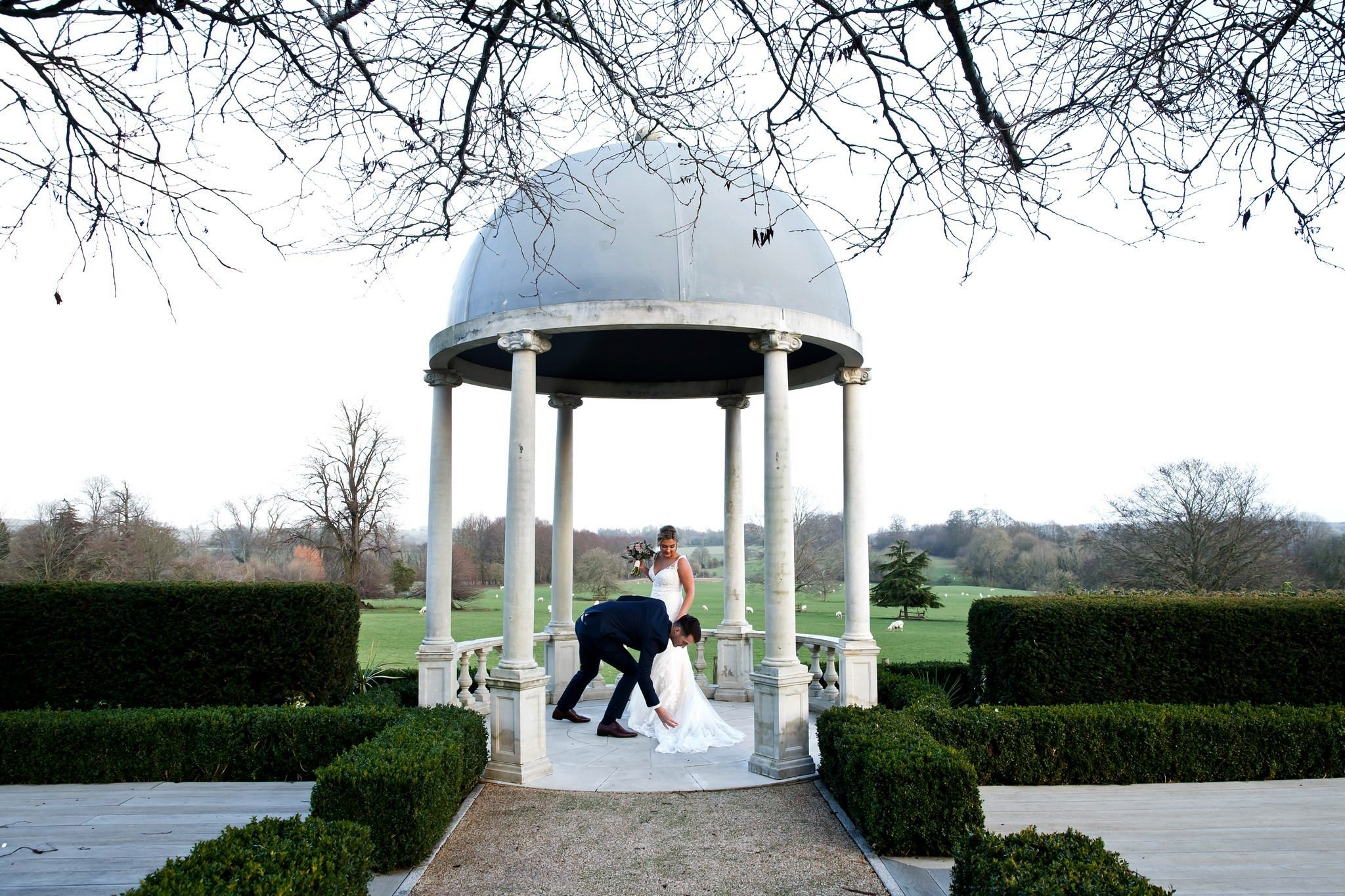 Froyle Park Christmas Winter Wedding
